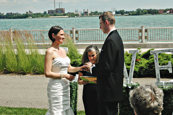 detroit michigan lake intimate hotel wedding