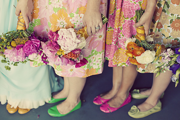 Vintage floral bridesmaid dresses for Vintage sites like etsy