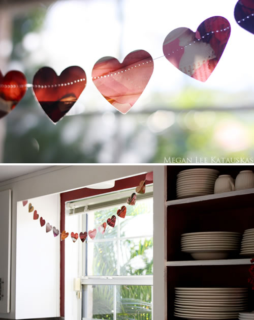diy heart wedding garland decor magazine style
