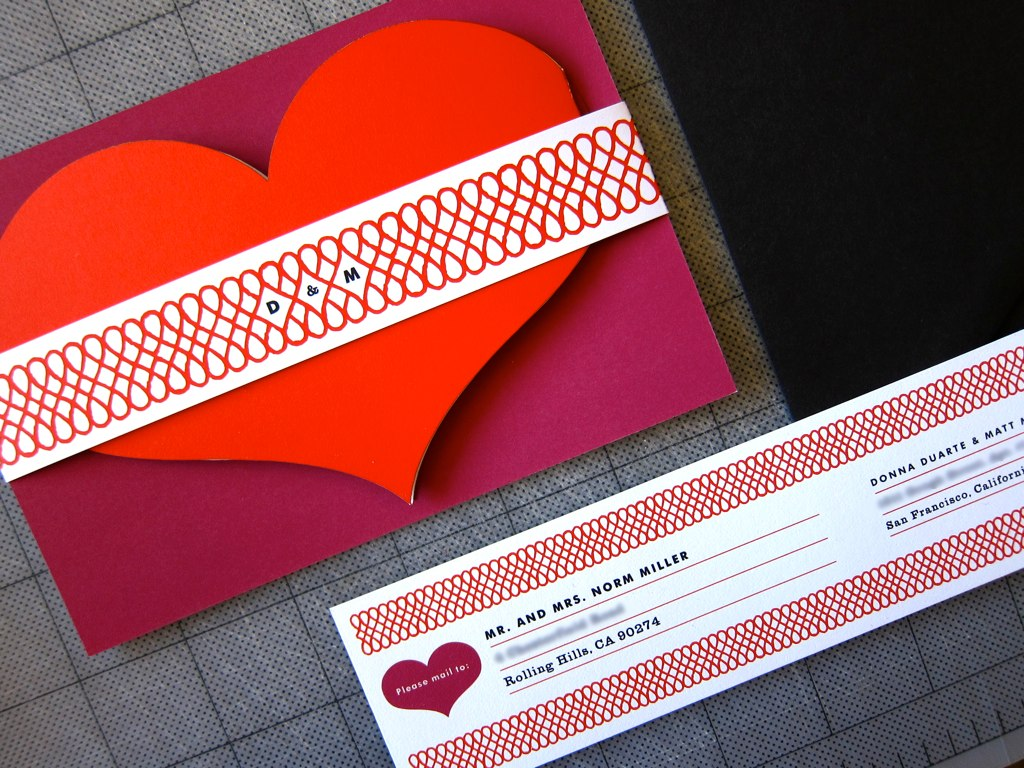 heart shaped wedding invitations