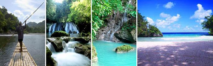 Bạn có thể tận hưởng tuần trăng mật ngọt ngào tại những cảnh quan thiên nhiên tươi đẹp của Jamaica.