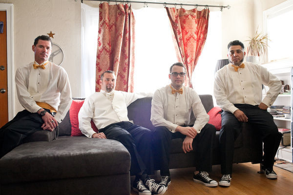 phoenix wedding groomsmen groom converse