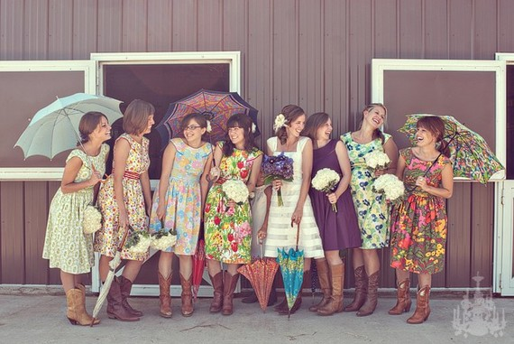 Vintage Wedding Party Dresses