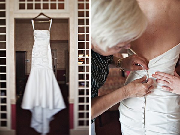 detroit michigan intimate hotel wedding dress shot