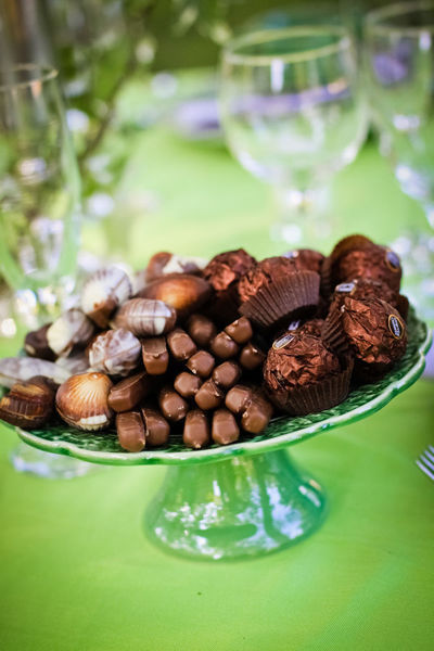 plate of wedding chocolates