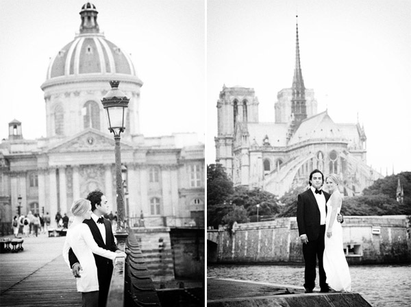 mod french wedding black & white