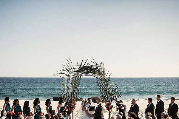 intimate wedding reception on the beach