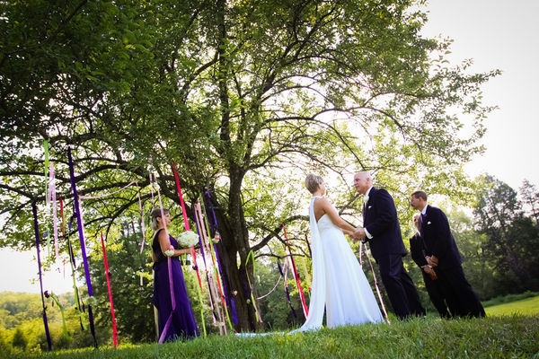 wedding ceremony under a tree