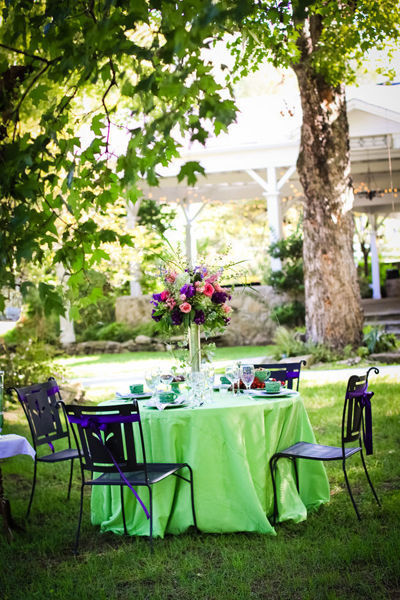 outdoor nashville wedding reception