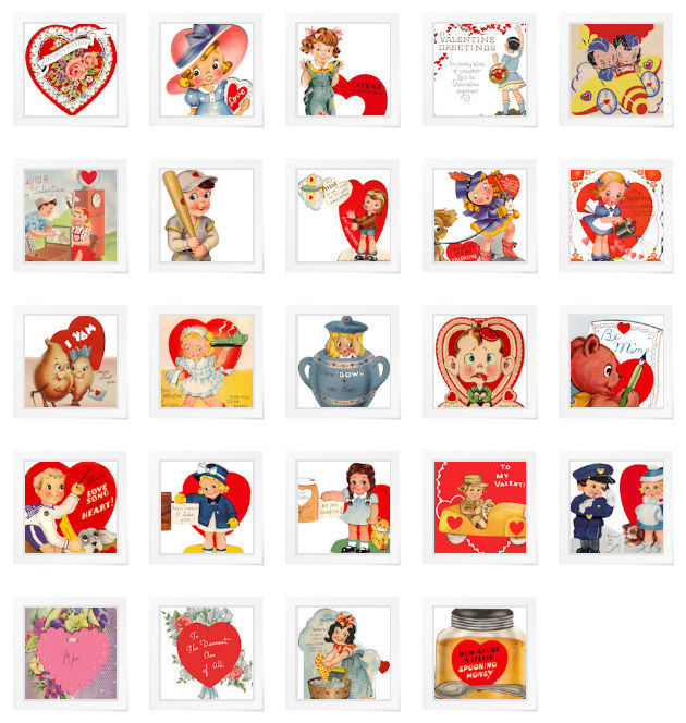graphic about Free Printable Vintage Valentine Cards called Basic Valentines: Printable and Lovely