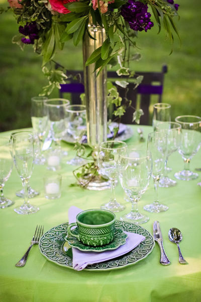 vintage dinnerware wedding reception