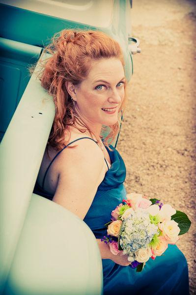 Cô dâu Kelly (37 tuổi) với vẻ hạnh phúc ánh lên trong ngày cưới.