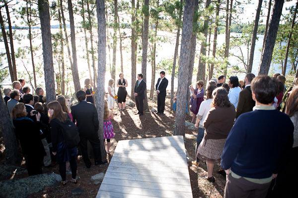 Rustic Minnesota woodland wedding