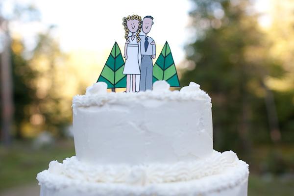 paper cartoon cake topper