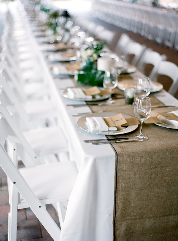 burlap diy table runners