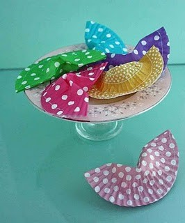 cupcake liner fortune cookie