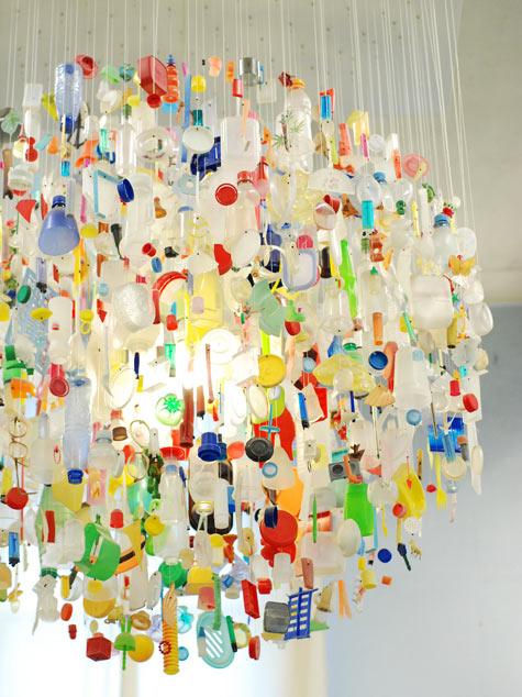 found-plastic-chandelier