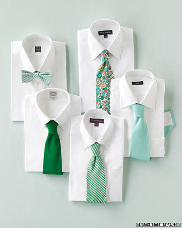 green wedding ties