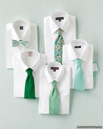 green wedding ties