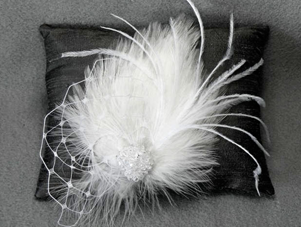 white hair fascinator