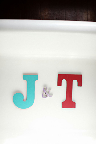 custom bride and groom letters