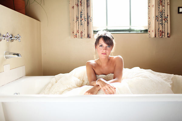 bride in the bathtub