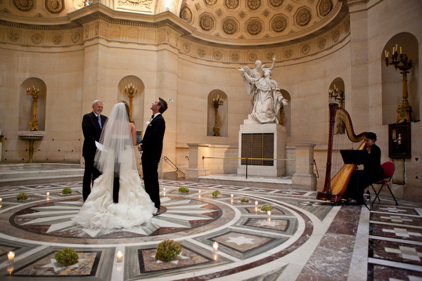 intimate Paris chapel elopement ceremony