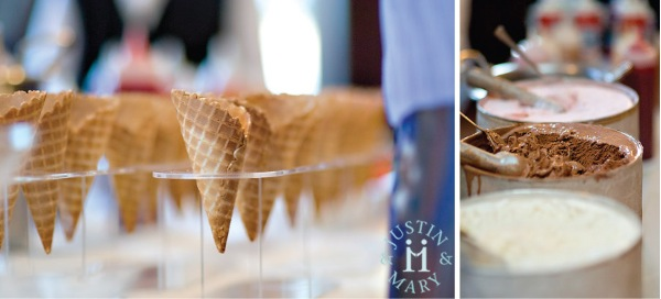 ice cream cone wedding