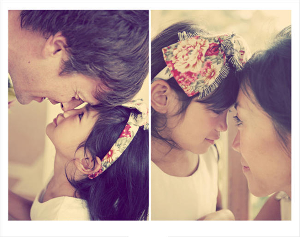 cute photos with flower girl