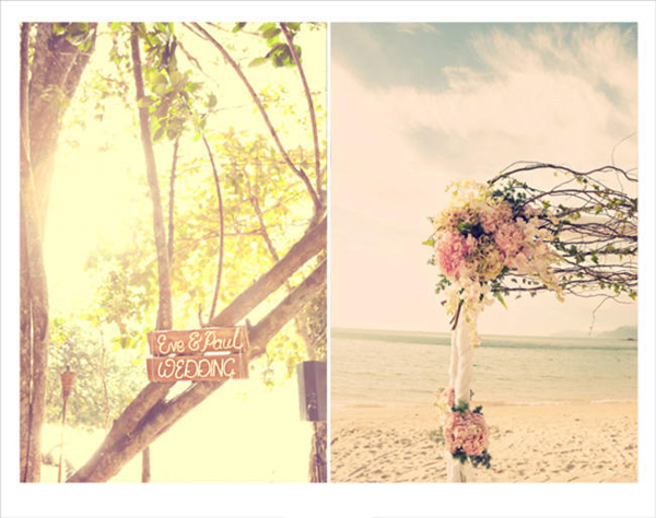 Malaysian beach wedding ceremony