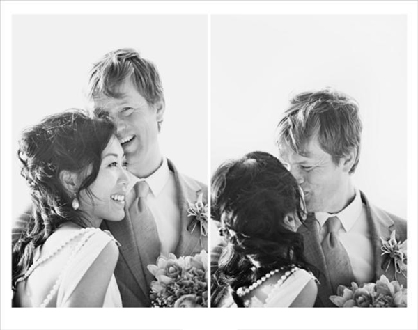 black and white couple portraits