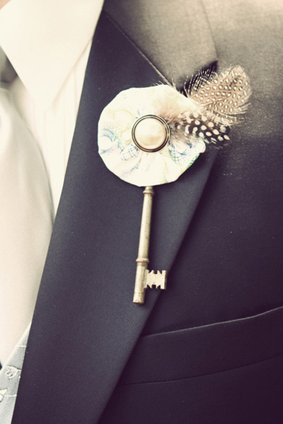 skeleton key boutonniere