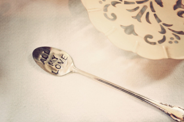 antique stamped spoon