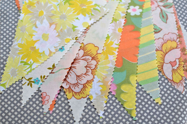 vintage party bunting