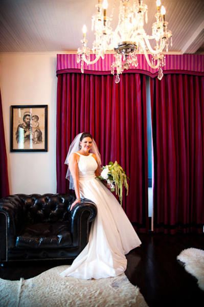 bride at the hotel Saint Cecilia