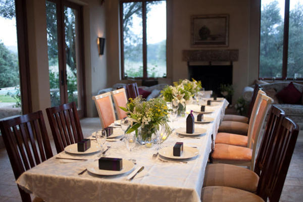 winery wedding table setting