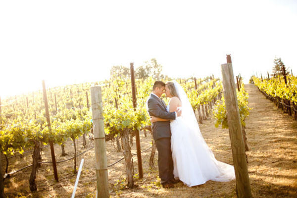 couple portrait in vineyard
