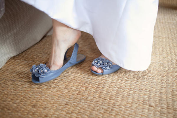 grey leather wedding flats