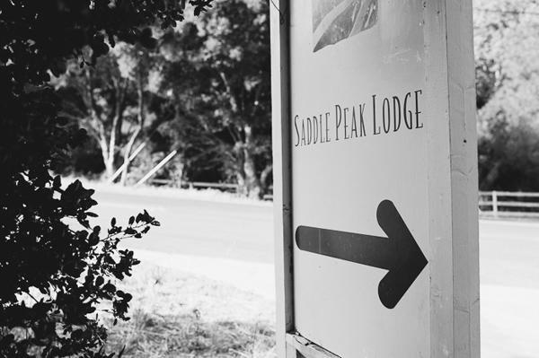 Saddle Peak Lodge sign