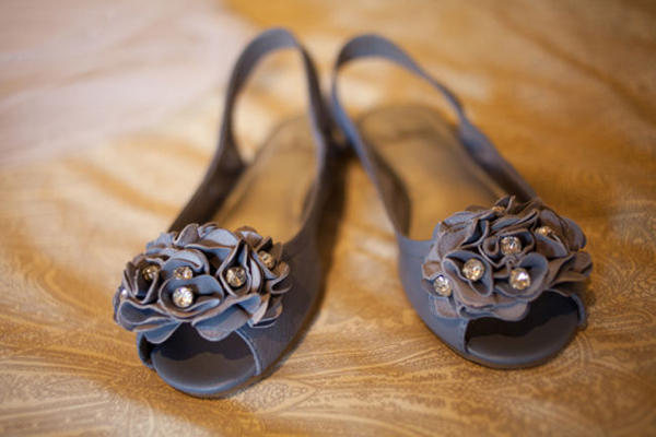 grey leather wedding sling backs