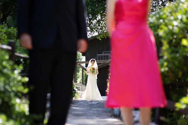 bride walking down the aisle
