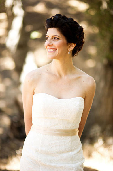 smiling bride portrait