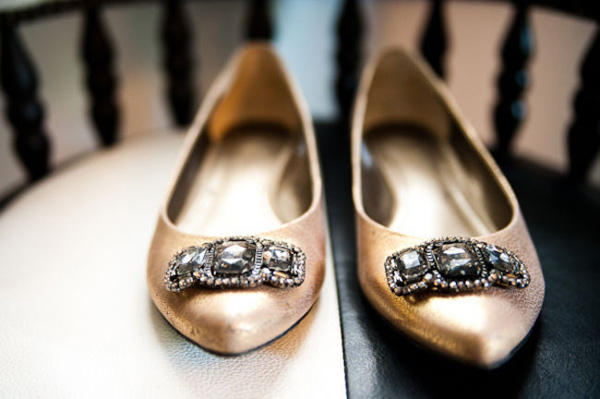 wedding flats with rhinestones
