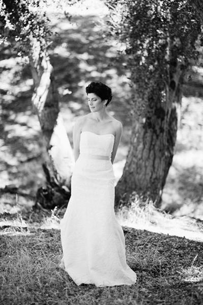black and white bride portrait