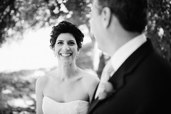 grinning bride