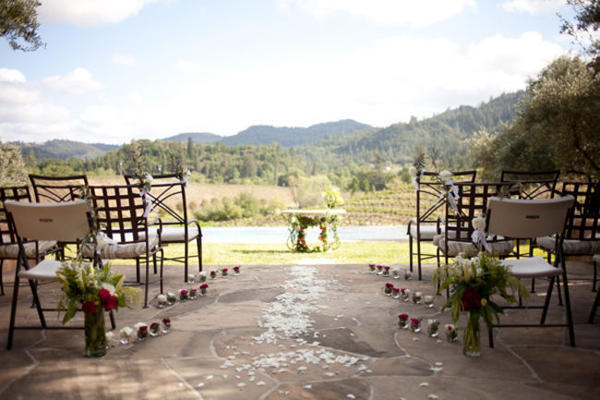 Outdoor California Vineyard wedding ceremony site