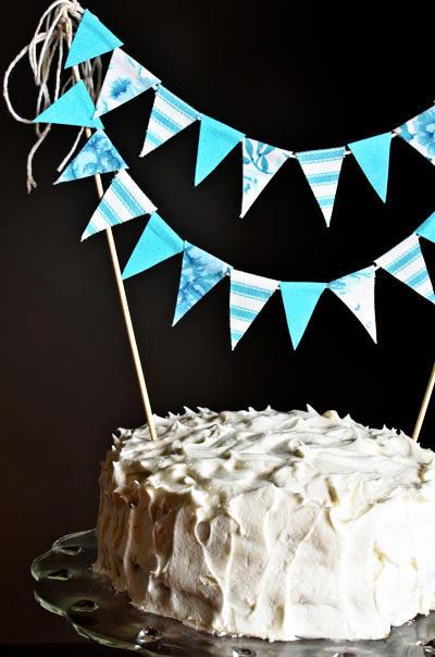 vintage cake bunting