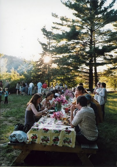 picnic tables wedding