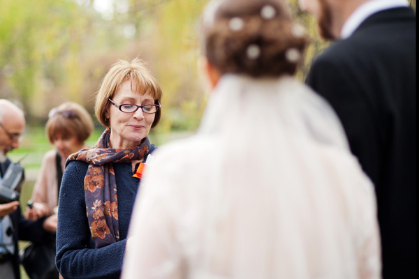 mother speaking at wedding ceremony