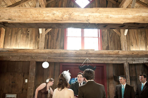 Rustic Mill Wedding ceremony